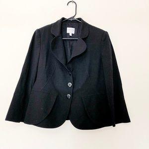 Armani Collezioni Wool Black Blazer